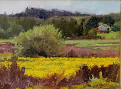 Myrvang Wetland plein air landscape painting by Robin Weiss