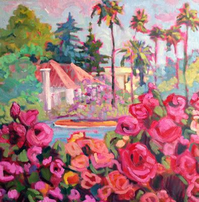 """Bold Expressive Landscape Painting, Contemporary Art """"Summertime"""" by Santa Fe Artist Annie O'Brien Gonzales"""