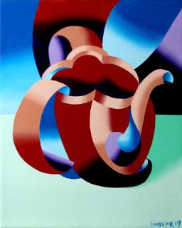 Mark Webster - Futurist Abstract Teapot Oil Painting