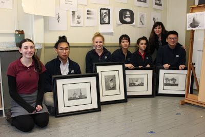 We are the first and only ever atelier that takes place in a high school in the world! News, press release, painting in show
