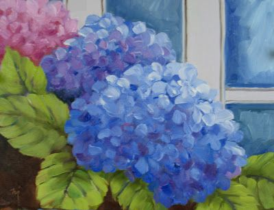 Hydrangeas at the Florist and Revised Work