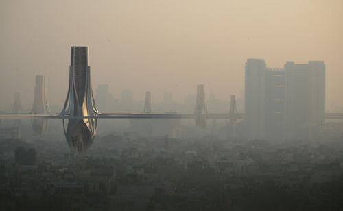 ZNERA Proposes a Network of Smog Filtering Towers To Combat Delhi's Rising Pollution Levels