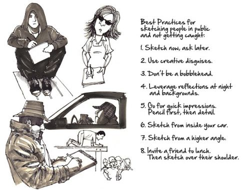 Best Practices for Sketching People in Public