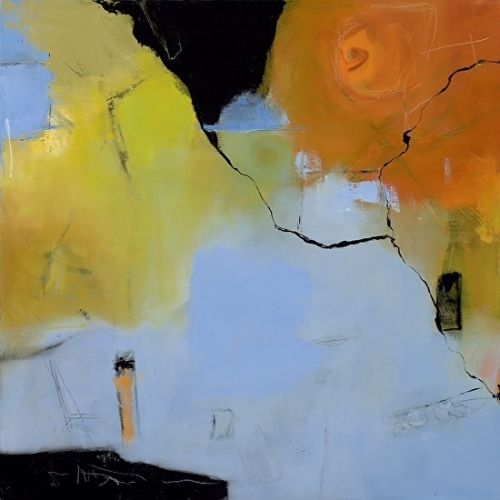 "Abstract Art, Expressionism, Contemporary Painting ""Time For a Change"" by Contemporary Artist Maggie Demarco"