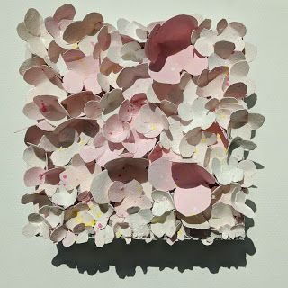 "Floral Paper Sculpture, Collage ""IN BLOOM"