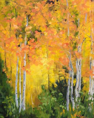 KM3021 Autumn Gold by Colorado Contemporary artist Kit Hevron Mahoney
