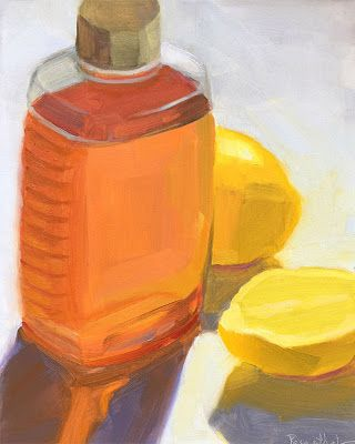 Honey Jar and Lemons