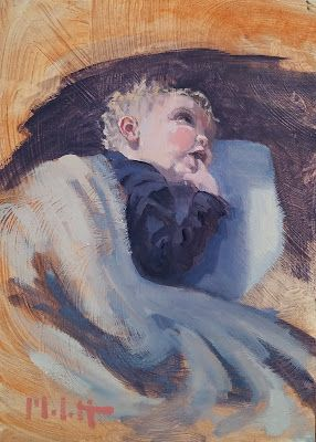 Child Portrait Painting Original Art Heidi Malott