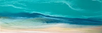 "Contemporary Seascape, Ocean Wave Art, Abstract Seascape, Caribbean, Coastal Decor Art ""Caribbean Waters III - Skillern's Seas Series"