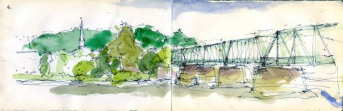 SKETCH DAY IN NEW HOPE, PENNSYLVANIA