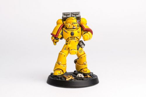 WIP: Imperial Fists Space Marine Heroes Brother Toriad