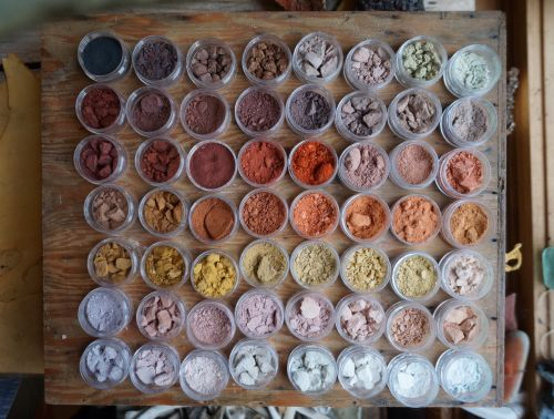A Multicolored Library of the World's Ochre Pigments Archived by Heidi Gustafson