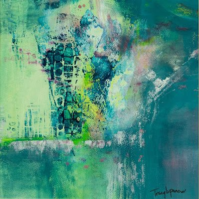 "Contemporary Art, Mixed Media Abstract Painting, Expressionism, ""Impasse l"" by Contemporary Artist Tracy Lupanow"