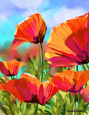 Digital poppies