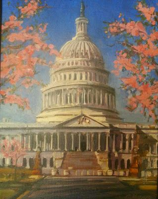 Cherry Blossoms at Capital 51615 by Candy Barr