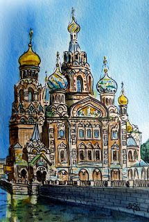 Saint Petersburg - Blood Cathedral - Travel With Me - Sketchbook Project