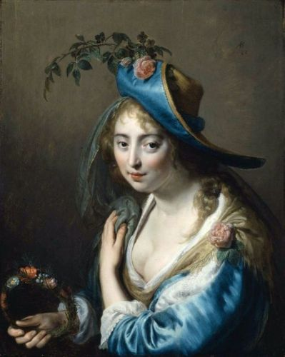 Celebrating The Earth's Beauty - 17C Goddess Flora with a Rose on her Hat