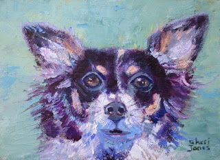 Pixie, New Contemporary Pet Portraits by Sheri Jones