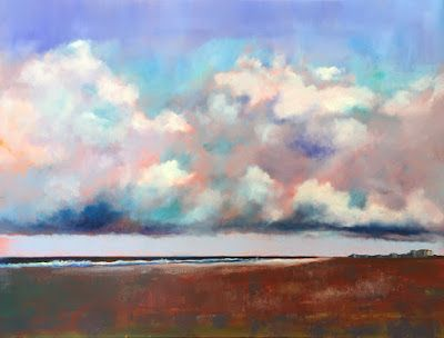 "Contemporary Beach Scene, ""Ocean Sky,"" Amy Whitehouse"