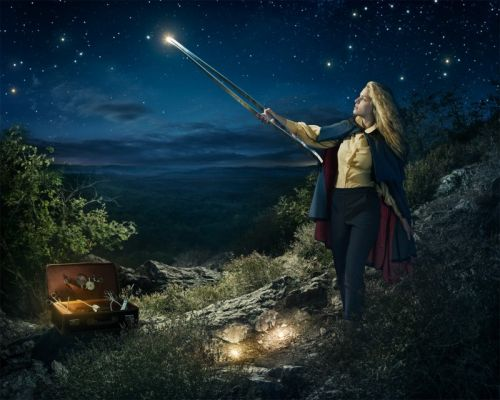 Creating a Photo of a Person Stealing Stars from the Night Sky