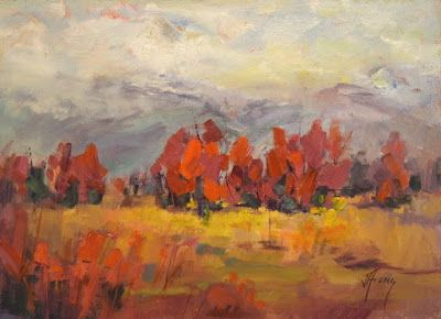 "Contemporary Impressionist Colorado Landscape Painting, Fine Art Oil Painting ""La Junta Ranch"" by Colorado Contemporary Fine Artist Jody Ahrens"