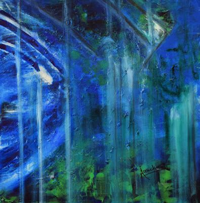 """Contemporary Art, Abstract, Expressionism """"Rain"""" by International Contemporary Abstract Artist Arrachme"""
