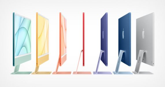 Apple Launches a Colorful Series of Redesigned iMacs Powered by M1