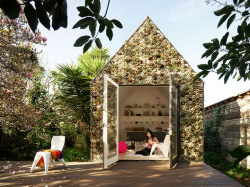 Backyard Cabin Experiments With 3D-Printed Tiles as a Facade Material