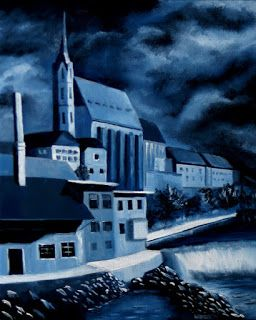 Mark Webster - Church of St. Vitus - Cesky Krumlov, Czech Republic - Midnight Oil Series