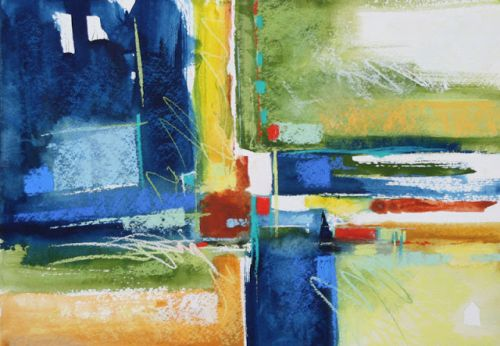 Blue and Yellow Corner, by Carol Engles