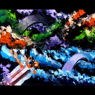 Mark Webster - Abstraction 16.1 Abstract Landscape Oil Painting