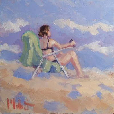 Beach Art Original Oil Daily Painting Heidi Malott