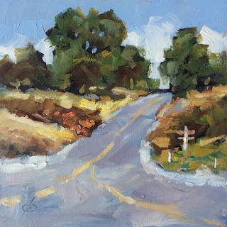 ROAD, LANDSCAPE, TREES by TOM BROWN