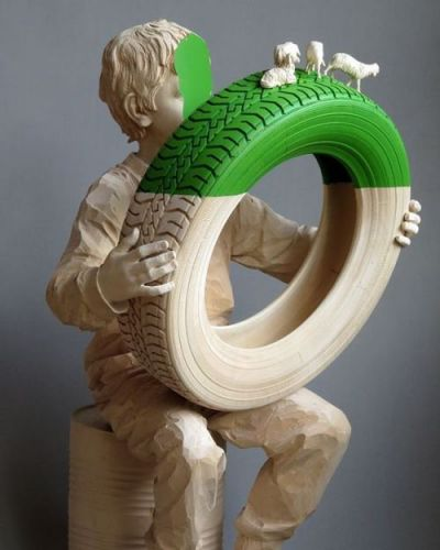 Crossconnectmag: Wood Sculptures by Willy Verginer Artist Willy
