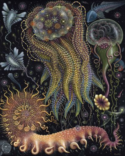 Mysterious Marine Ecosystems Populate Rich Paintings by Robert Steven Connett
