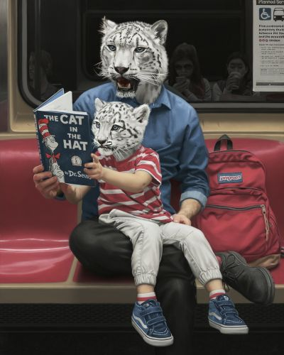 Surreal Paintings by Matthew Grabelsky Take the New York City Subway for a Wild Ride
