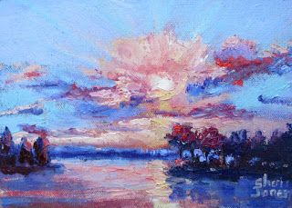 Glorious Sunrise, New Contemporary Landscape Painting by Sheri Jones