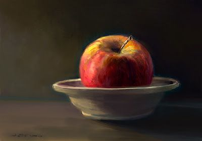 Red Apple in Fruit Bowl