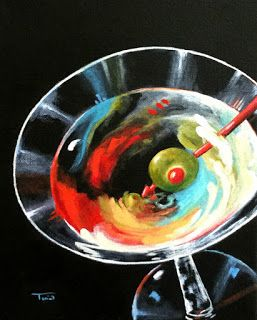 Day 10, but not painting 10 HA! Martini, Stirred XI