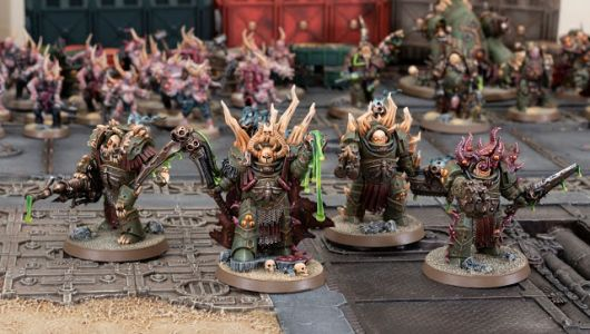 Showcase: Death Guard Lord Felthius and Blightlord Cohort