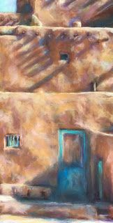 """A SLANTED DAY - 18""""h x 10""""w pastel by SUSAN RODEN"""