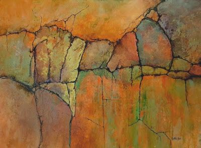 "Abstract Geologic Landscape Fine Art Print ""Ancient Mysteries II"