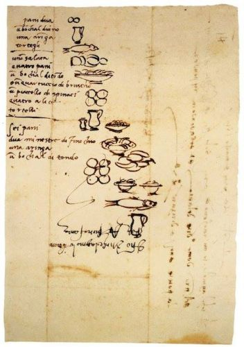 Michelangelo's Handwritten 16th-Century Grocery List