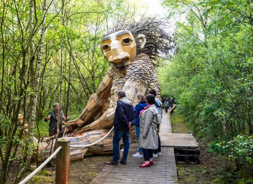 Stumble Upon Seven New Reclaimed Wood Trolls by Thomas Dambo in the Forests of Boom, Belgium