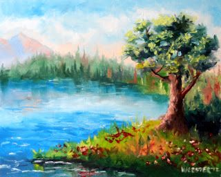 Mark Webster - Landscape Oil Painting 32312