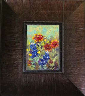 New Bluebonnet and Texas Wildflower oil painting series by Niki Gulley
