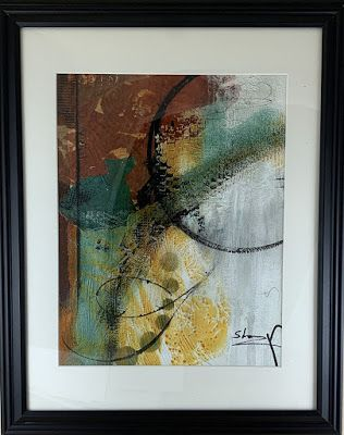 "Expressionism, Contemporary Painting, Framed Abstract Art, ""Creative Option"" by Texas Contemporary Artist Sharon Whisnand"