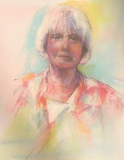 Pastel Sketch from life drawing - Susan Roden