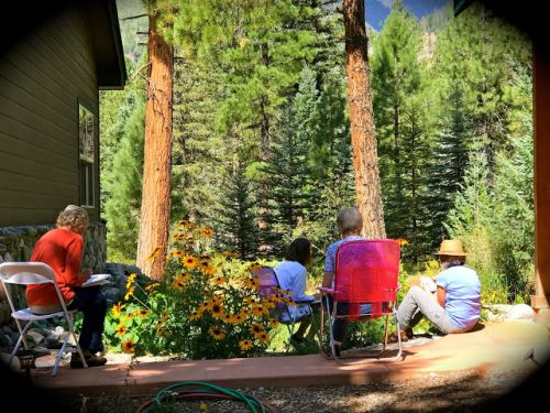 DURANGO WATERCOLOR WORKSHOP 2018 at Vallecito - DAY ONE