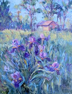 Laura's Garden, New Contemporary Landscape Painting by Sheri Jones